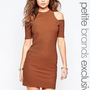 Glamorous Petite cold shoulder bodycon dress